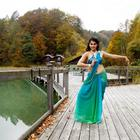 Tapsee green color saree dancing photo