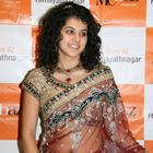 Tapsee in tansparent Saree
