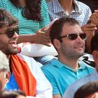AICC General Secretary Rahul Gandhi watching the CWC final match