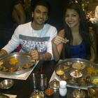 Raneer and Anushka Enjoying their Thali in Ahmedabad