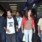 Shahid and Priyanka at Airport From IIFA 2012 Trip and Teri Meri Kahaani Promotion
