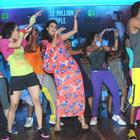 Celebs at The Launch Of Zumba Fitness Event