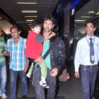 Hrithik and Suzanne With Their Son Snapped at The Airport
