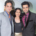 Vikaas,Teejay and Manish Paul at Girl Child Cause Event