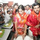 Ram Charan With Family Visit Tirupati Temple and Serve Food To Pilgrims
