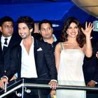 Priyanka and Shahid at Teri Meri Kahaani Premiere in Dubai