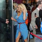 Pamela Anderson Unveiling PETA Ad in London