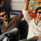 Ajay and Abhishek Spotted at Ahmedabad To Promote Bol Bachchan