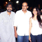 Ashutosh Gowariker With His Wife and a Friend at Bol Bachchan Special Screening Event