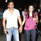 Suniel Shetty with His Wife Mana at Bol Bachchan Special Screening Event