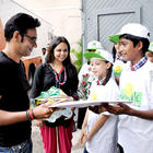 Ajay and Rohit Meet Children from Smile Foundation at Mohboob Studio