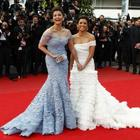 Aishwarya and Eva Smiling Pic On Red Carpet