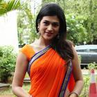 Shraddha Latest Photo Shoot in Orange Saree at Nankam Pirai Movie Launch Event