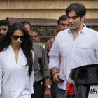 Malaika and Arbaaz Leave After Paying Tributes To First Superstar Kaka at His Residence in Mumbai