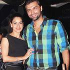 Chetan Hansraj with his wife Lavinia at The Dark Knight Rises Screening