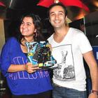 Divya Palat and Aditya Hitkari at the Dark Knight Rises Screening