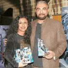 Parveen Dusanj and Kabir Bedi at the Dark Knight Rises Screening