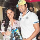 Shabbir Ahluwalia and Kanchi at the Dark Knight Rises Screening