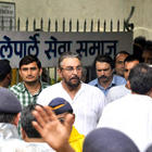 Kabir Bedi at The Funeral of Rajesh Khanna in Vile Parle