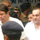 Randhir Kapoor and Rajeev Kapoor at The Funeral of Rajesh Khanna
