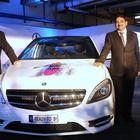 Genelia D'Souza at the launch of the Mercedes Benz Tourer B-Class