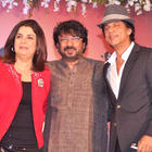 Sanjay,Farah and Srk Poses During Shirin Farhad Ki Toh Nikal Padi Music Launch