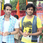 Tusshar and Riteish On The Sets of Pavitra Rishta To Promote KSKHH