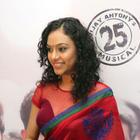 Rupa Manjari Hot Photo Shoot in Red Saree at Naan Movie Audio Launch
