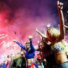 People Cheer as They Watch The Fireworks Show at The Closing Ceremony of the London Olympic Games Reuters
