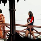 Ileana and Ranbir On The Sets Of Barfi