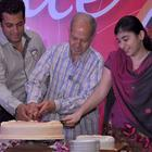 Salman Khan Cake Cutting Pic at The Magic Bullet 10 Year Celebration