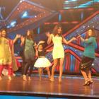 Priyanka and Ileana On The Sets of Dance Ke Superkids For Barfi Promotion