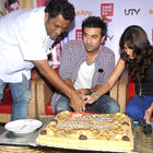 Ranbir,Ileana and Anurag Basu at Cafe Coffee Day To Promote Movie Barfi