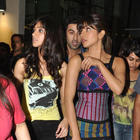Priyanka and Ileana Snapped at R City Mall For Barfi Promotion