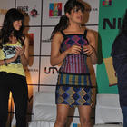Priyanka Short Dress Still During Barfi Promotion at R City Mall