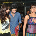 Priyanka,Ileana and Ranbir Spotted at Barfi Promotion In R City Mall