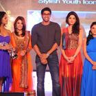 Deeksha,Ramya,Karthika,Rana and Richa On Stage Of  South Spin Fashion Awards Function