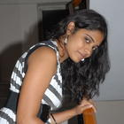Samatha Latest Photoshoot In Black and White Striped Dress