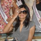 Sushmita Sen Snapped at Vasundhara Jewellers in Hyderabad