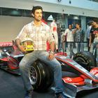 Kunal at Display of Formula 1 Car of Mclaren Merdcedes Team at Oberoi Mall