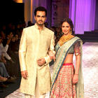 Esha and Bharat Walks On The Ramp For Azva at AVIBFW 2012