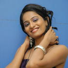 Telugu Heroine Hemanthini Stills In Purple Dress
