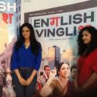 Sridevi and Gauri Pose During The Press Meet Of English Vinglish