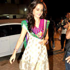 Monica Bedi In Ethnic Indian Wear at Andheri Cha Raja Ganpati Pandal