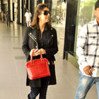 Gauri Khan Snapped at Airport In Black Trench Coat and Shades