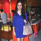 Pooja Advani Wear Blue Dress At Sahachari Foundation Annual Shopping Festival