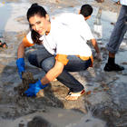 Actress Nargis at DNA Clean Up Drive Post Ganpati Visarjan