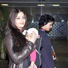 Baby Aaradhya and Aishwarya Rai Bachchan Return From Chicago