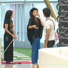 Sana,Karishma And Kashif At Bigg Boss House