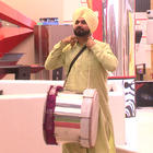 Navjot Singh Sidhu With A Dhol In Bigg Boss House